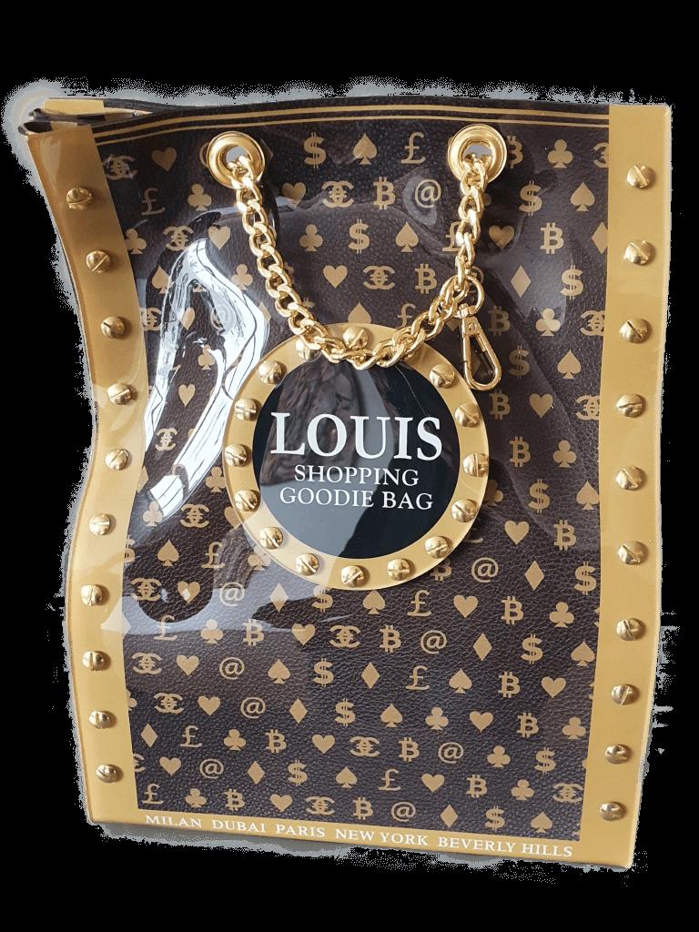 Louis goodie bag brown- Ad van Hassel
