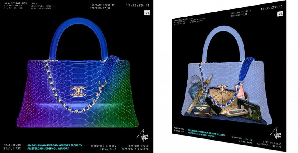 2021 Chanel Python gold X-ray   – James Chiew