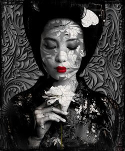 Asian black beauty I- Hans Jochem Bakker