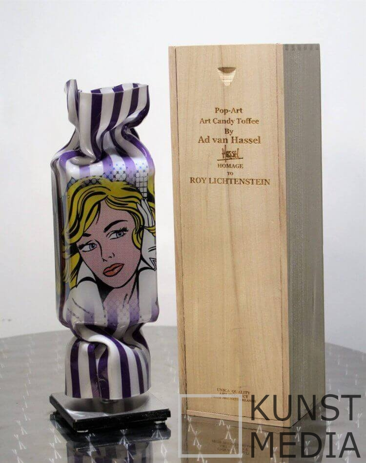 Candy Lichtenstein Purple – Ad van Hassel