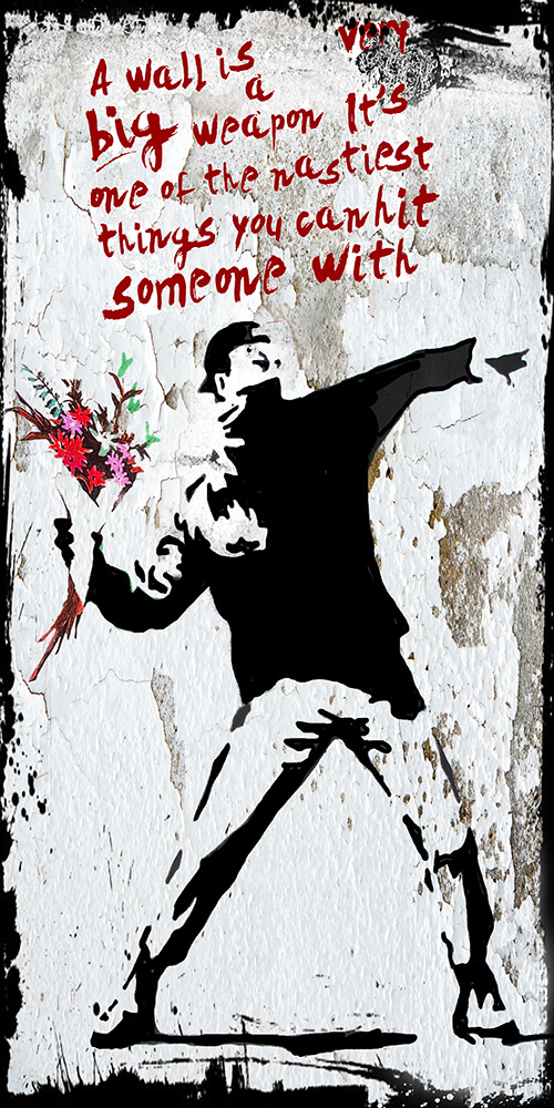Flower Thrower Banksy – Micha Baker