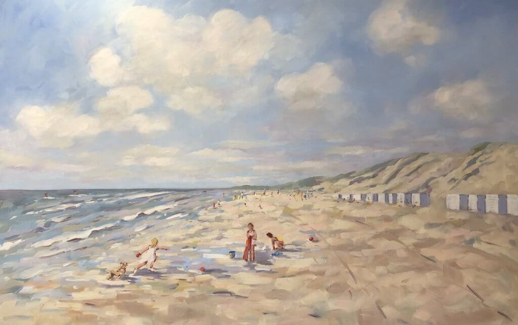 Playing at the beach- Nicole Laceur