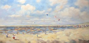 Kites and Beach- Nicole Laceur