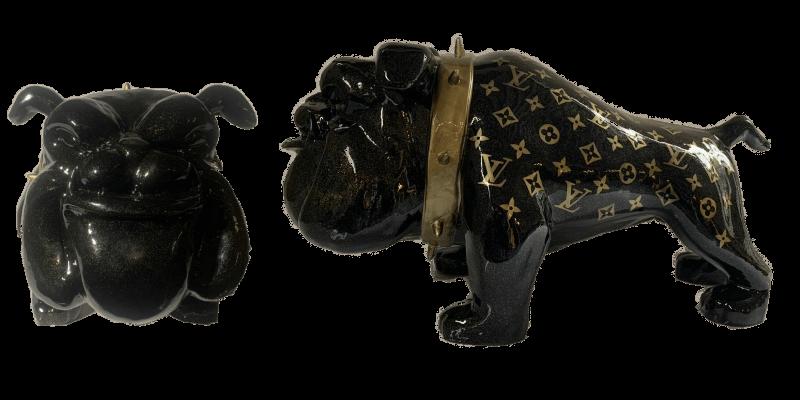Bulldog black glitter LV  – Marcus van Oss